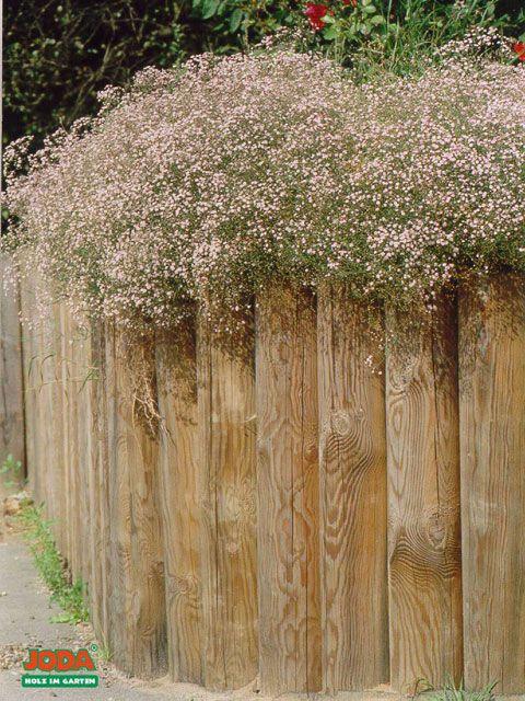 Holzpalisaden Einfassung Von Wegen Garten Und Landschaftsbau In